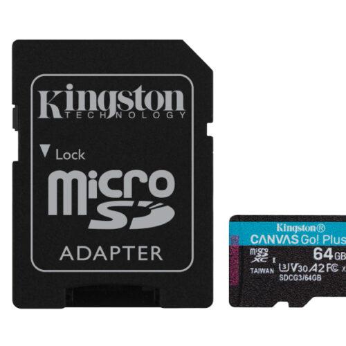 Kingston Canvas Go Plus MicroSDXC 64GB + Adapter SDCG3