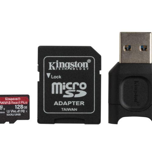Kingston Canvas React Plus MicroSDXC SDCR2 128GB w