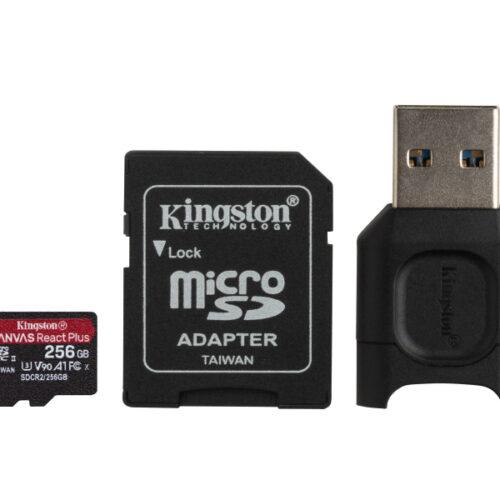 Kingston Canvas React Plus MicroSDXC SDCR2 256GB w