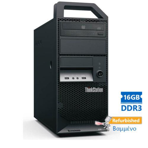 Lenovo E20 Tower Xeon X3470(4-Cores)/16GB DDR3/250GB/Κάρτα Γραφικών/DVD/7P Grade A+ Workstation Refu