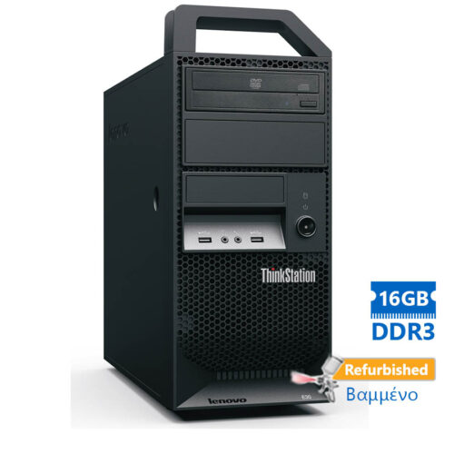 Lenovo E32 Tower Xeon E3-1245V3(4-Cores)/16GB DDR3/500GB/Κάρτα Γραφικών1GB/DVD/7P Grade A+ Workstati