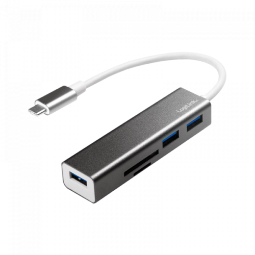 Logilink USB-C 3.0 HUB 3-Ports + Card Reader (UA0305)