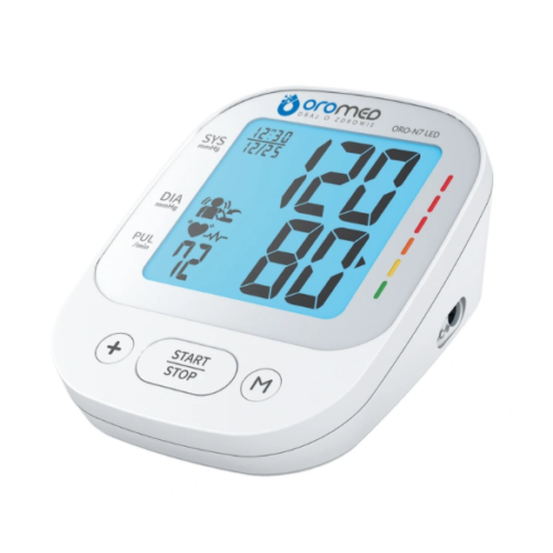 Oromed Electronic Blood Pressure Monitor ORO-N7 LED+Power Adapter