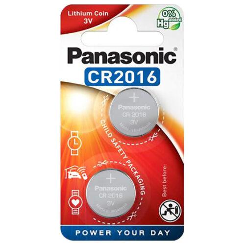 Panasonic Batterie Lithium CR2016 3V Blister (2-Pack) CR-2016EL
