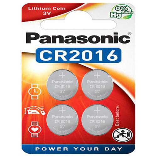 Panasonic Batterie Lithium CR2016 3V Blister (4-Pack) CR-2016EL