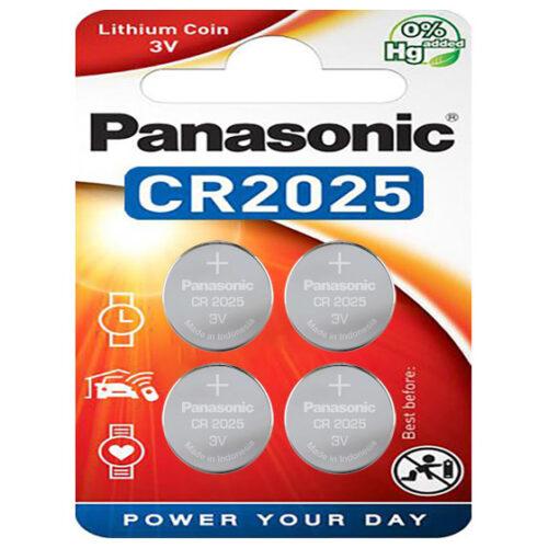 Panasonic Batterie Lithium CR2025 3V Blister (4-Pack) CR-2025EL