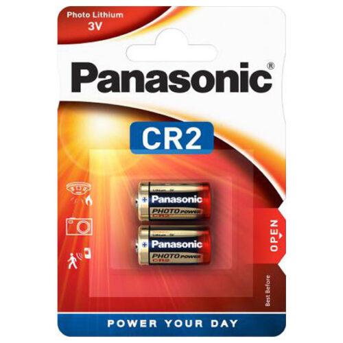 Panasonic Batterie Lithium Photo CR2 3V Blister (2-Pack) CR-2L