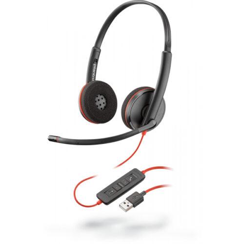 Plantronics Headset Blackwire C3220 3200 Series binaural USB 209745-201