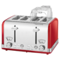 ProfiCook 4 Slice-Toaster Vintage PC-TA 1194 (Red)