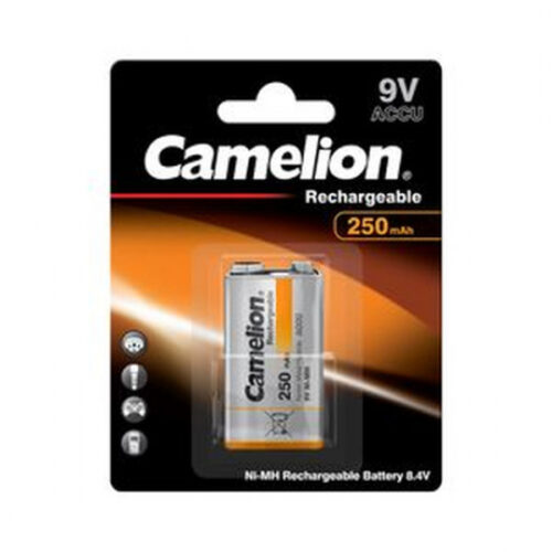 Rechargeable Battery Camelion 9V Block 250mAH (1 Pcs.)