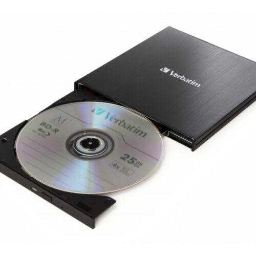 Verbatim DVW ext. Slimline USB3.1 Typ C Blu-ray Brenner extern retail 43889