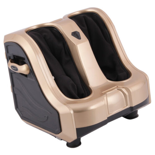 Vibrating Foot and Leg Massager with Heating function (Gold, TD001F-8)