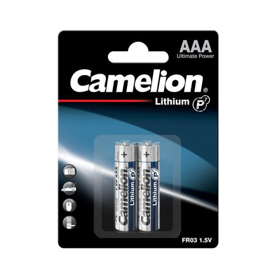 Batterie Camelion Lithium LR03 Micro AAA (2 pieces)