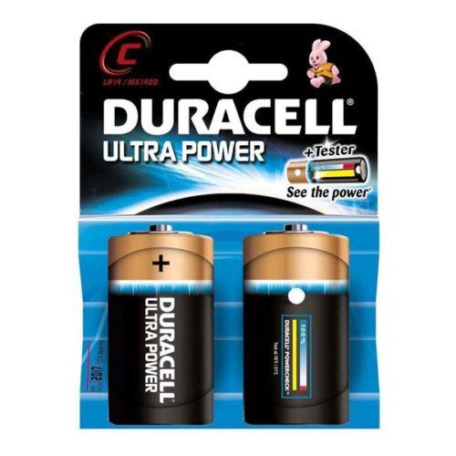 Battery Duracell Alkaline Ultra Power LR14 Baby C (2 Pcs)