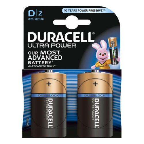 Battery Duracell Alkaline Ultra Power LR20 Mono D (2 Pcs)