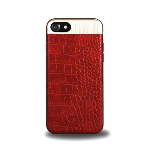 Case for iPhone 7+8, Leather Design (Winered)