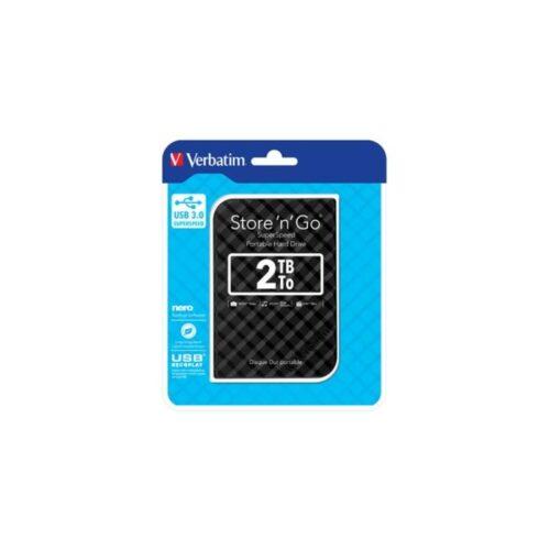 HDD 6,35cm (2.5) USB3 2TB Verbatim Store n Go GEN2 black 53195