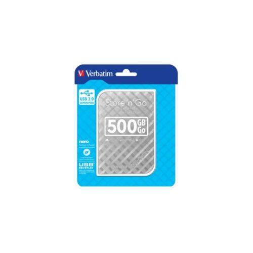 HDD 6,35cm (2.5) USB3 500GB Verbatim Store n Go GEN2 silver 53196