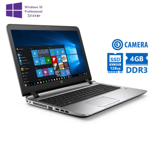 "HP ProBook 450G3 i5-6200U/15.6""/4GB/128GB M.2 SSD/DVD-RW/Camera/10P Grade A Refurbished Laptop"