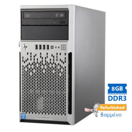 "HP Proliant ML310e Gen8v2 Server Tower i3-4130/8GB DDR3/2x600GB SAS 3.5""/DVD Grade A+ Refurbished PC"