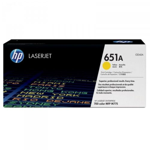 HP Tonerpatrone - 651A - CE342A - yellow CE342A