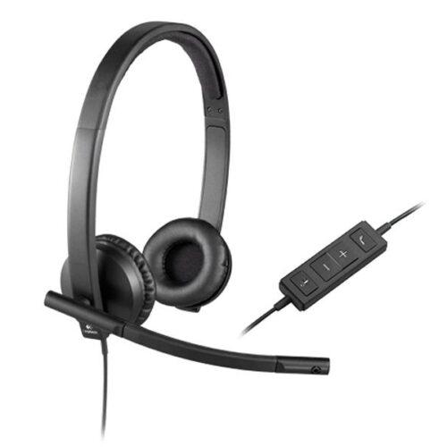 Headset Logitech USB Headset H570e Stereo 981-000575