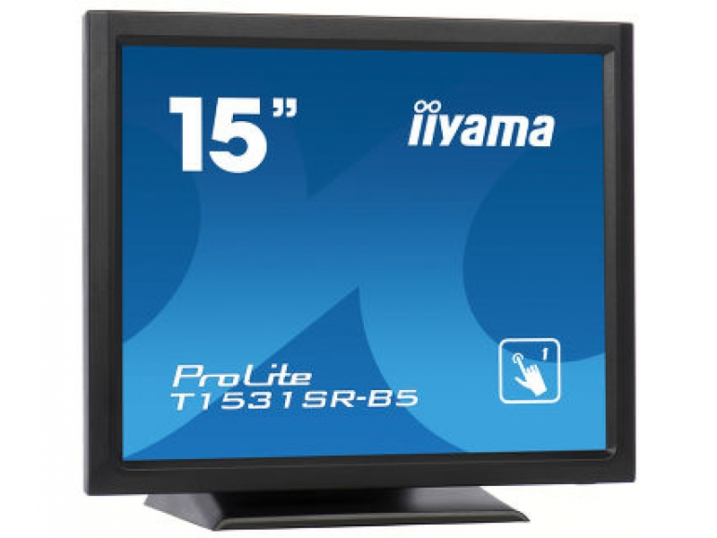 IIYAMA 38.1cm (15)  T1531SR-B5  43 Touch HDMI+DP black T1531SR-B5