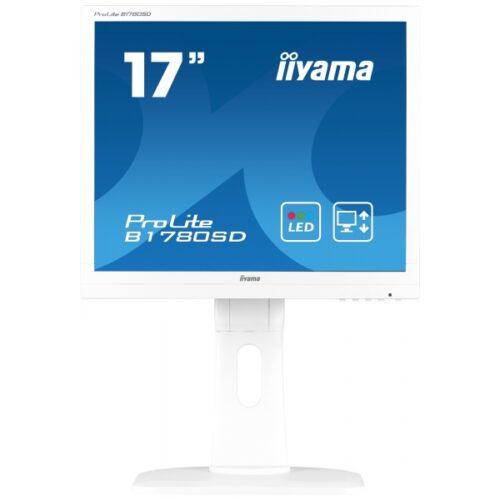 IIYAMA 43.2cm (17)  B1780SD-W1  54 DVI white lift Spk. B1780SD-W1
