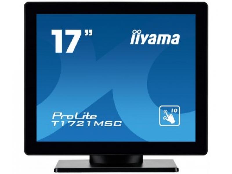 IIYAMA 43,2cm (17)  T1721MSC-B1  54 M-Touch DVI+USB bl. T1721MSC-B1