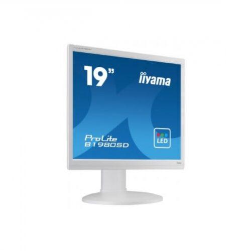 IIYAMA 48.3cm (19)  B1980SD-W1  54 DVI wh.lift Piv.Spk B1980SD-W1
