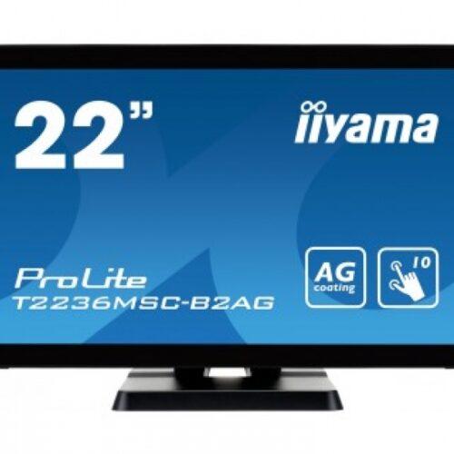 IIYAMA 54.6cm (21,5) T2236MSC-B2AG 169 M-Touch DVI+HDMI T2236MSC-B2AG