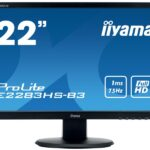 IIYAMA 54.7cm (22)  E2283HS-B3  169 HDMI+DP bl.LED Spk E2283HS-B3