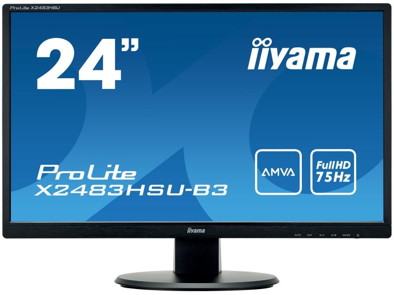 IIYAMA 61.0cm (24)  X2483HSU-B3 169 DVI+HDMI+USB black X2483HSU-B3