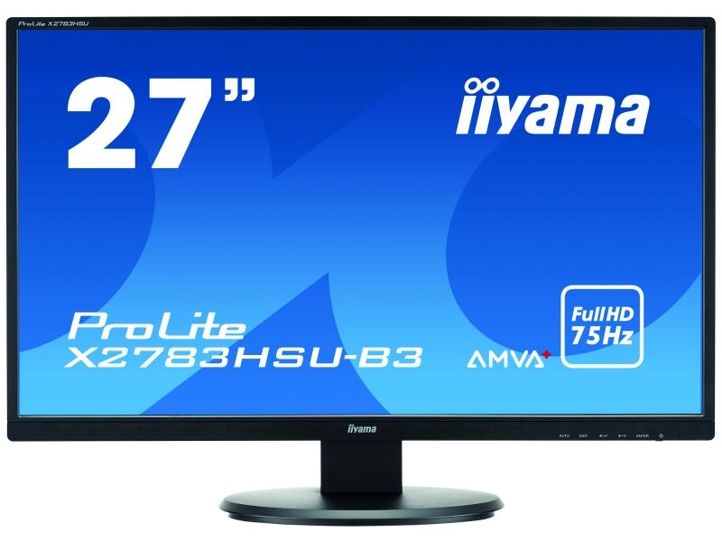 IIYAMA 68.6cm (27)  X2783HSU-B3 169 VGA+HDMI+DP+USB bl. X2783HSU-B3