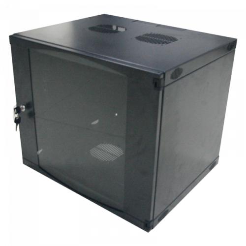 Logilink 19 Wallmounted Single-Section Box 12U 540X450mm dark grey W12F64B