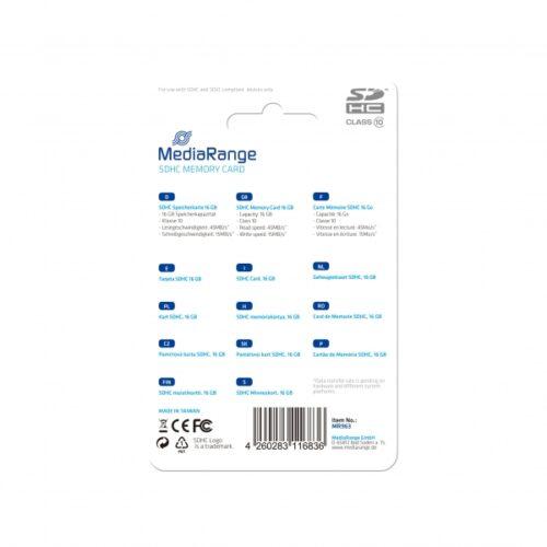 MediaRange SDHC Card 16GB Cl.10 MR963
