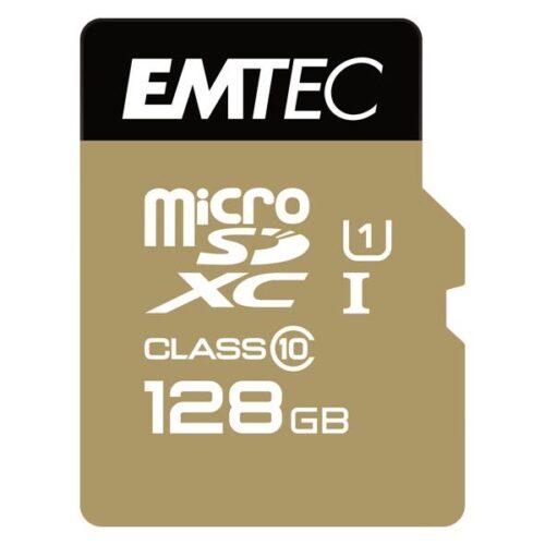 MicroSDXC 128GB EMTEC +Adapter CL10 Gold+ UHS-I 85MB