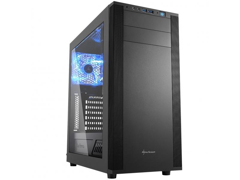 PC- Gehäuse Sharkoon M25-W Schwarz 4044951019328