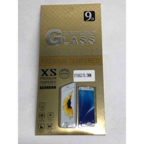 Panzerglas 9H GOLD für Samsung S7562 (0.3mm) RETAIL