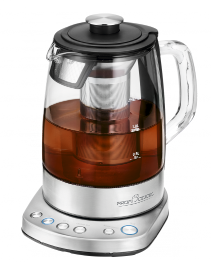 ProfiCook Glass tea kettle Wi-Fi 1,5L, WKS 1167G inox