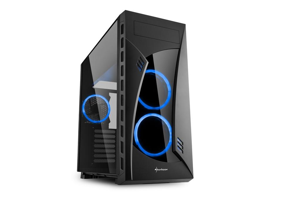 Sharkoon  PC- Gehäuse Night Shark Blue 4044951026241