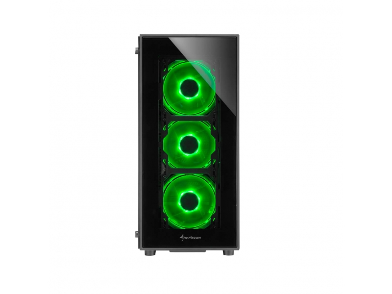 Sharkoon PC- Gehäuse TG5 Green 4044951020577