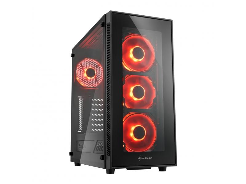 Sharkoon PC- Gehäuse TG5 Red  4044951020560