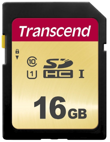 Transcend SD Card 16GB SDHC SDC500S 95