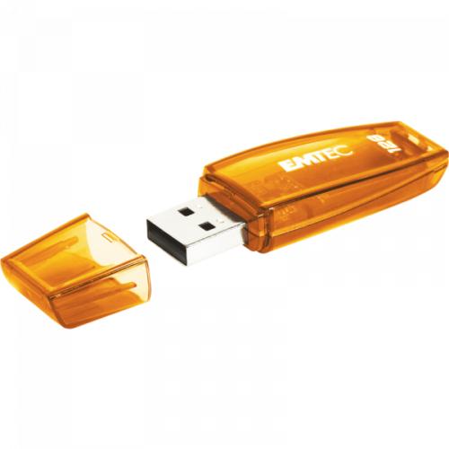 USB FlashDrive 128GB EMTEC C410 Retail (Orange)