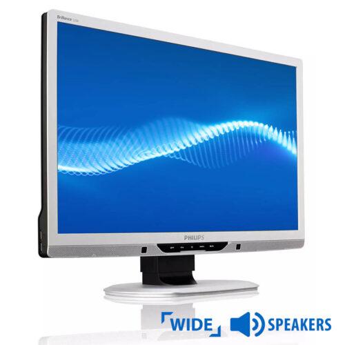 """Used Monitor 225B TFT/Philips/22""""/1680x1050/Wide/Silver/w/Speakers/Grade B/D-SUB & DVI-D & USB HUB"""