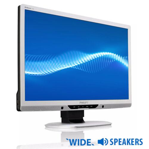 """Used Monitor 225B2 TFT/Philips/22""""/1680x1050/Wide/Silver/Black/w/Speakers/D-SUB&DVI-D&USB HUB"""