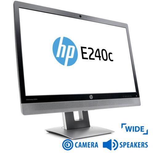 "Used Monitor E240c TFT/HP/24"" w/Webcamera/1920x1080/Wide/Black/VGA&DVI-D&USB HUB"