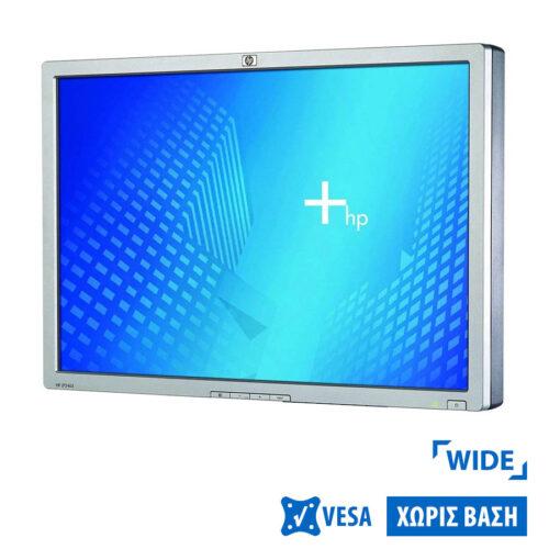 "Used Monitor LP2465 TFT/HP/24""/1920x1200/Wide/Silver/Black/No Stand/Grade B/2 x DVI-I & USB HUB"