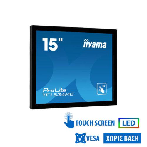 "Used TouchMonitor (A-) ProliteTF1534 LED/iiyama/15""/1024x768/Black/No Stand/VGA & DVI-D & USB"